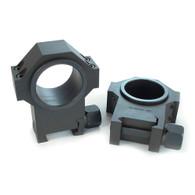 """USTS Steel 30mm Scope Rings w/1"""" Inserts 1.270"""" (660-622)"""