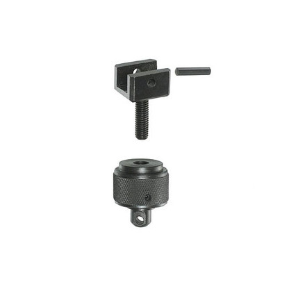 "Universal Adapter Mounting Hardware. Fits the Versa-pod 150-100 Universal mounting adapter, standard model. This hardware kit includes the ""U""-shaped bracket and pin, with Knurled mounting nut. It comes with the standard Uncle Mikes style sling swivel on the bottom."