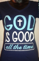 God is Good all the Time V neck