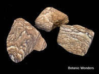 3 Banded Sandstone rocks, Tan colors, very nice!