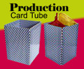 Production Card Tube with Silk - Silk Magic Trick