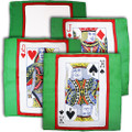 Set of Four 18 Inch Card Silks by Sitta Magic (Green Background)