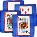 Set of Four 12 Inch Card Silks by Sitta Magic (Blue Background)