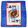 24 Inch Card Silk by Alberto Sitta Magic - King of Clubs