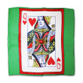 18 Inch Card Silk by Alberto Sitta Magic - Queen of Hearts