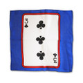 12 Inch Card Silk by Alberto Sitta Magic - 3 of Clubs