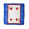 12 Inch Card Silk by Alberto Sitta Magic - 4 of Diamonds