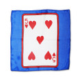 12 Inch Card Silk by Alberto Sitta Magic - 5 of Hearts