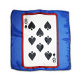 12 Inch Card Silk by Alberto Sitta Magic - 8 of Spades