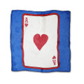 12 Inch Card Silk by Alberto Sitta Magic - Ace of Hearts