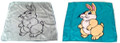 Duane Laflin 18 Inch Bunny Silk Set of 2
