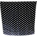 "24"" Spotted Silk (Black with White Dots)"