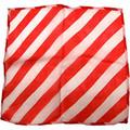 "9"" Red and White Zebra Silk"