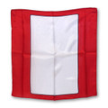 18 Inch Blank Card Silk with Red Background