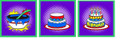 Birthday Cake Mixing Bowl Set of 3 Silks - Magic Trick