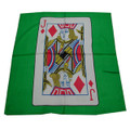 18 Inch Jack of Diamonds Card Silk - Green Background