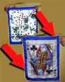Flash Card Prediction Silk - Queen of Clubs