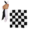 12 Inch Black and White Chessboard Silks by Alberto Sitta Magic