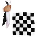 12 Inch Black and White Chessboard Silks by Alberto Sitta Magic