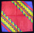 Rice's Silks 24 Inch by 24 Inch Diagonal Rainbow Design - Red