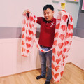 Giant 48 Foot Long Heart Silk Streamer by JL Magic