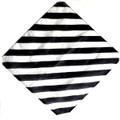 "12"" Black and White Zebra Silk for Magic Tricks"