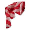 Red & White Zebra Thumb Tip Streamer
