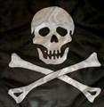 "18"" Pirate Silk for Magic Tricks (Skull and Crossbones)"