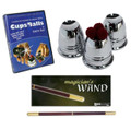 Professional Cups and balls with DVD and Magician's Wand
