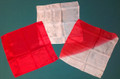 15 Inch Red and White Half Dyed Silk Set
