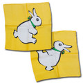 "18"" Yellow Rabbit/Duck Silk by Vincent DiFatta"