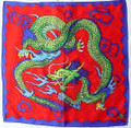 "18"" Red Rice Silks Imperial Dragon Silk"