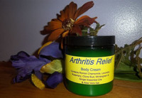 Arthritis Relief Body Cream is a blend of Roman Chamomile, Rosemary, Ginger, Clove Bud, Lavender, and Wintergreen Essential Oils will help to relieve inflammation and effectively reduce the pain of arthritis. 8 oz.