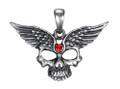 """DD2965 - 1.5"""" Winged Skull Pendant"""