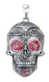 "DD2972 - 1.5"" Day of the Dead Tattoo Skull Pendant"