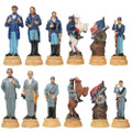 "YTC7061 - 3"" U.S. Civil War Chess Set (No Board)"
