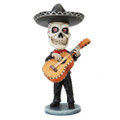 """PT10546 - 6.275"""" Day of the Dead Bobblehead Guitar Player"""