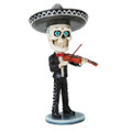 """PT10543 - 6.275"""" Day of the Dead Bobblehead Violin Player"""