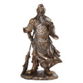 "PT10630 - 12.25"" Bronze-finished Guan Yu; Bronze finished"