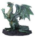 "YTC8554 - 4.5"" Green Dragon on Rock"