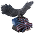 YTC8621 - Bronze-finish Eagle with Colored Flag