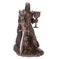 """PT10874 - 10"""" Bronze-finished King Arthur"""