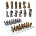 "PT10904 - 3.75"" Dragon Kingdom Chess Set with Glass Board"