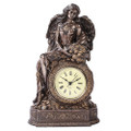 "PT11044 - 9"" Bronze-finished Lady Fortuna Clock"