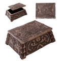 "PT11055 - 2.25"" Aztec Trinket Box Bronze-finish"