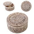 """PT11057 - 2.25"""" Aztec Round Trinket Box"""