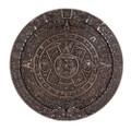 "PT11058 - .75"" Aztec Calendar Plaque Bronze-finished"