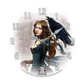 "PT11093 - 13.25"" Tarot Queen Clock, Alchemy Gothic"