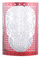 "YTC8649 - 3.375"" Day of the Dead  Skull Votive Holder; Red"