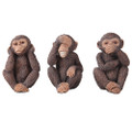"PT11280 - 3.5"" Hear, See, Speak No Evil Monkeys; set of 3"